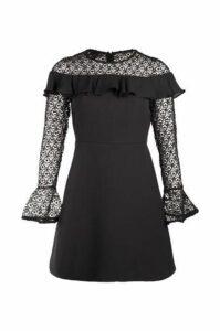 Lace & Frill Shift Dress