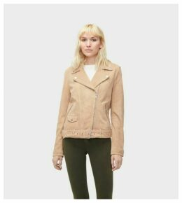 UGG Stacey Suede Moto Jacket Womens Outerwear Camel XL