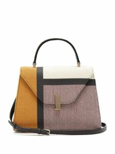 Valextra - Iside Medium Colour Block Bag - Womens - Brown Multi