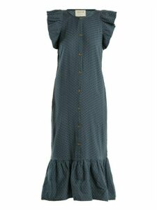 Cecilie Copenhagen - Jehro Scarf Jacquard Cotton Dress - Womens - Mid Blue