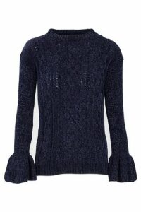 Flute Sleeve Cable Knit Jumper