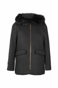 Fur Collar Duffle Coat