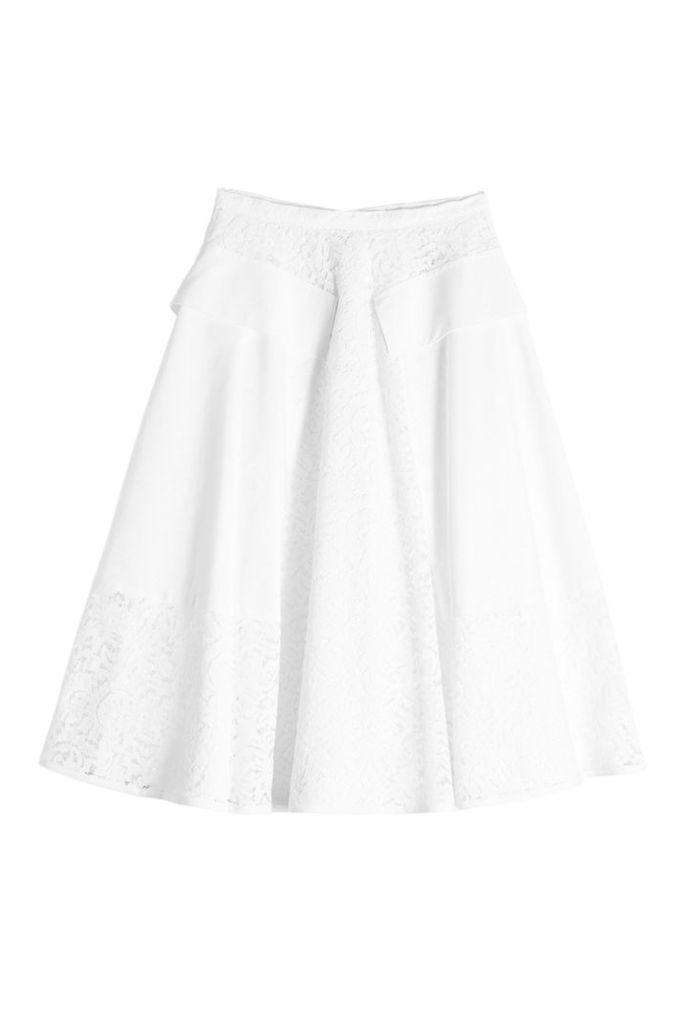 N °21 Lace Midi Skirt