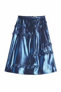 Burberry Silk Metallic Skirt