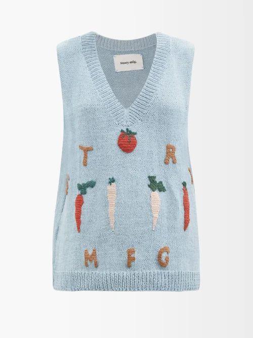 Roksanda - Kaori Buttoned A Line Skirt - Womens - Light Blue