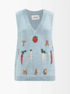 Roksanda - Kaori Buttoned A Line Skirt - Womens - Light Blue