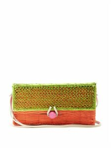 Sophie Anderson - Romina Toquilla Straw Cross Body Body - Womens - Green Multi