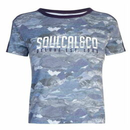 SoulCal Deluxe Mountain Print T Shirt
