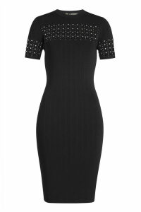 Versace Embellished Dress with Cut-Out Detail