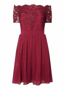 Womens **Showcase Red 'Erin' Bardot Dress- Red, Red