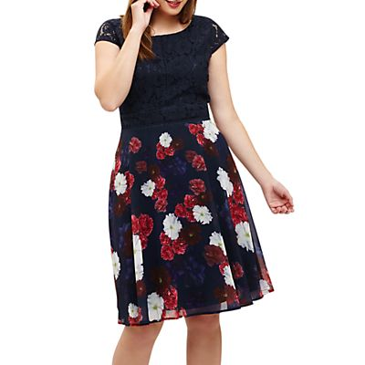 Studio 8 Nicole Dress, Navy/Multi