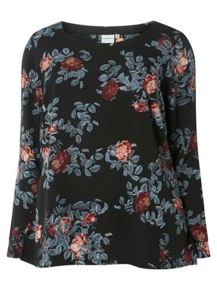 Womens **Juna Rose Multi Floral Print Tunic- Navy, Navy