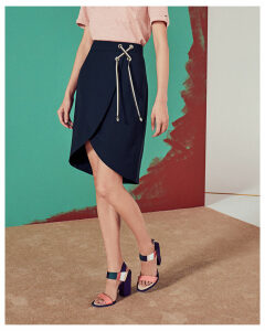 Ted Baker Crossover front skirt Navy