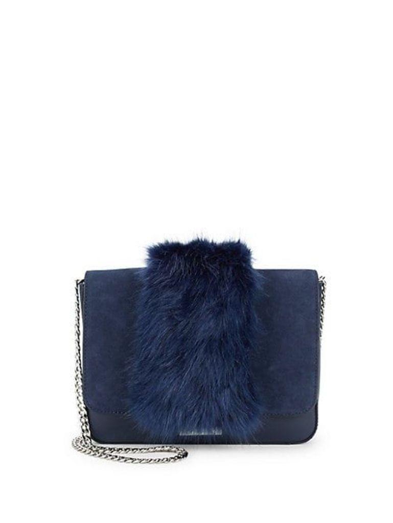 Faux Fur Lock Shoulder Bag