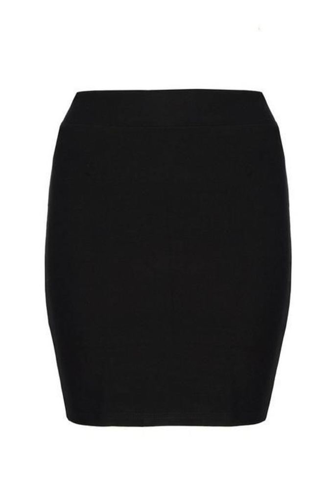 Quiz Black Stretch Bodycon Skirt