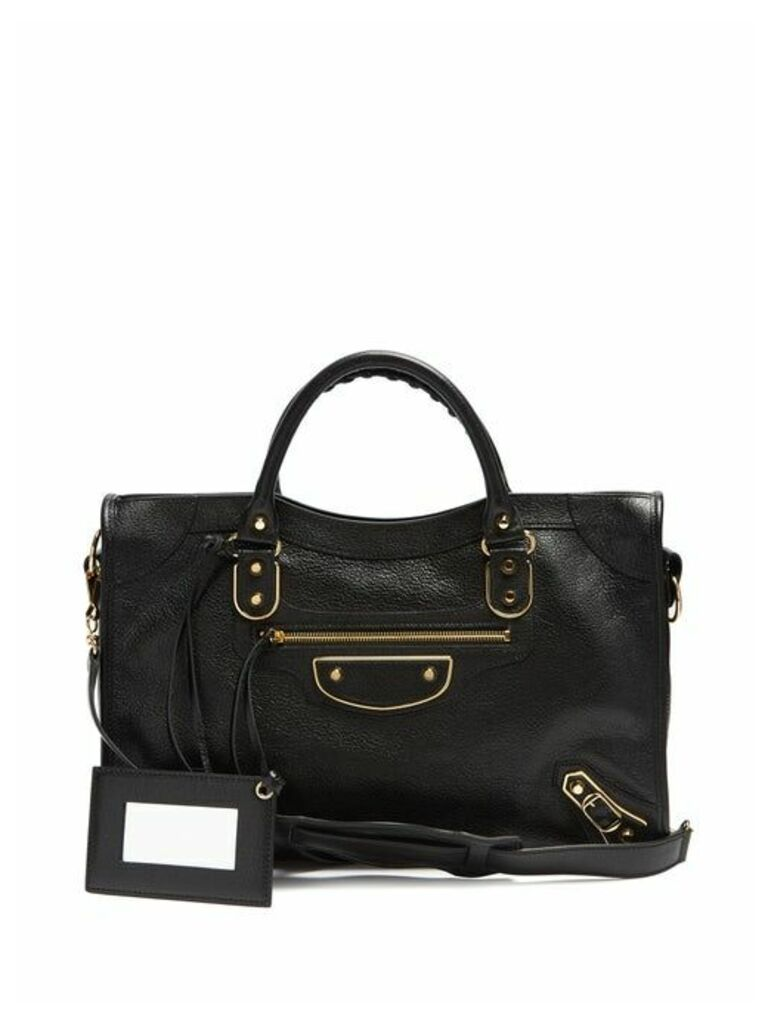 Balenciaga - Metallic Edge City Bag - Womens - Black