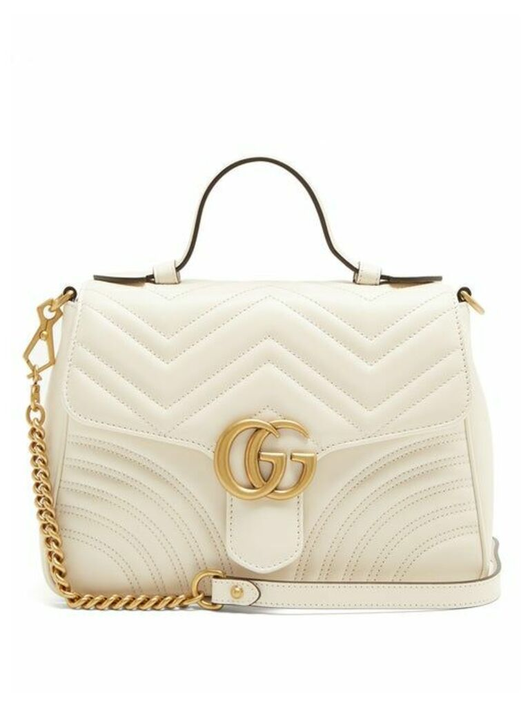 Gucci - Gg Marmont Quilted Leather Shoulder Bag - Womens - White