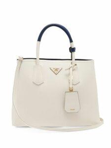 Prada - Double Saffiano Leather Bag - Womens - White Navy