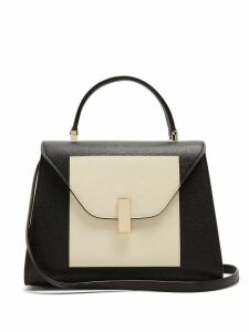 Valextra - Iside Medium Grained Leather Bag - Womens - White Black
