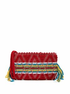 Antonello Tedde - Piattina Cotton Horizontal Stripe Clutch - Womens - Red Multi