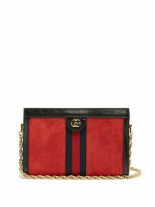 Gucci - Ophidia Suede Shoulder Bag - Womens - Red