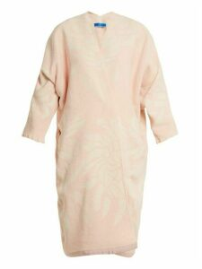 Marit Ilison - Reversible Floral Jacquard Cotton Chenille Coat - Womens - Pink White