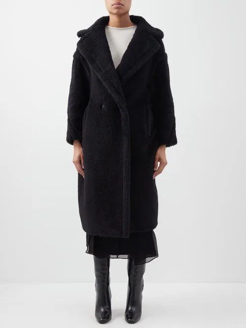Raey - Squiggle Print Silk Crepe Pyjama Top - Womens - Burgundy Print