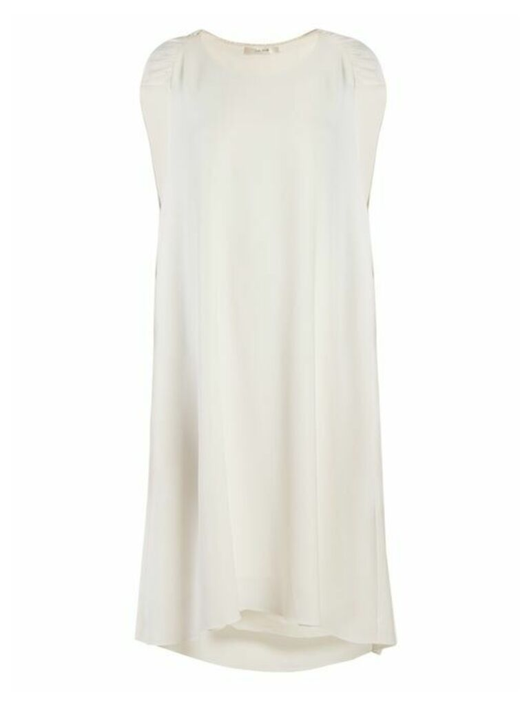The Row - Dada Ruched Shoulder Cady Dress - Womens - Ivory