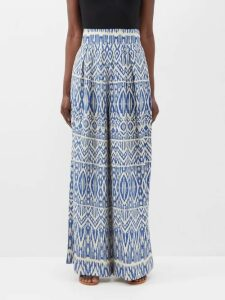 Toga - Belted Floral Print Nylon Dress - Womens - Green Multi