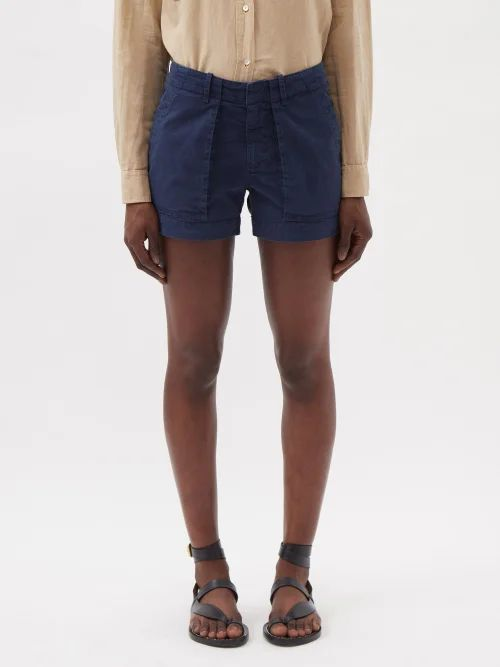 Prada - Pleated Rabbit Print Skirt - Womens - Blue Print