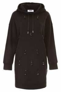 MSGM Hooded Dress With Decorations