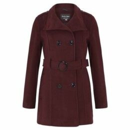 De La Creme  Wool Belted Winter Coat  women's Trench Coat in Red