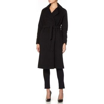 De La Creme  - Black Women`s Winter Wool Cashmere Wrap Coat  women's Coat in Black