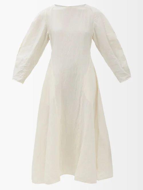 Balenciaga - Pulled Puff Sleeve Coat - Womens - Ivory