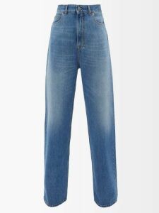Preen By Thornton Bregazzi - Alyssa Floral Devoré Midi Dress - Womens - Black Purple