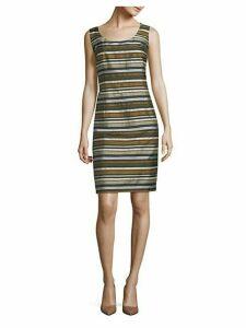 Rebecca Striped Sheath Dress