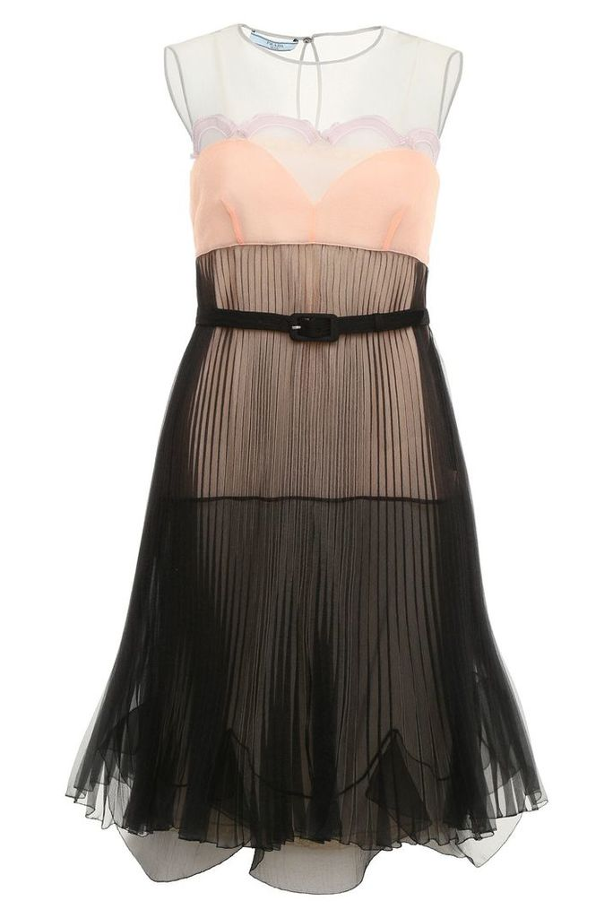 Prada Pleated Cigaline Dress