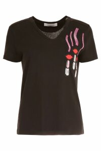 Valentino Lipstick Patch T-shirt