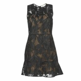 MICHAEL Michael Kors  PALM OPEN MESH DRS  women's Dress in Black