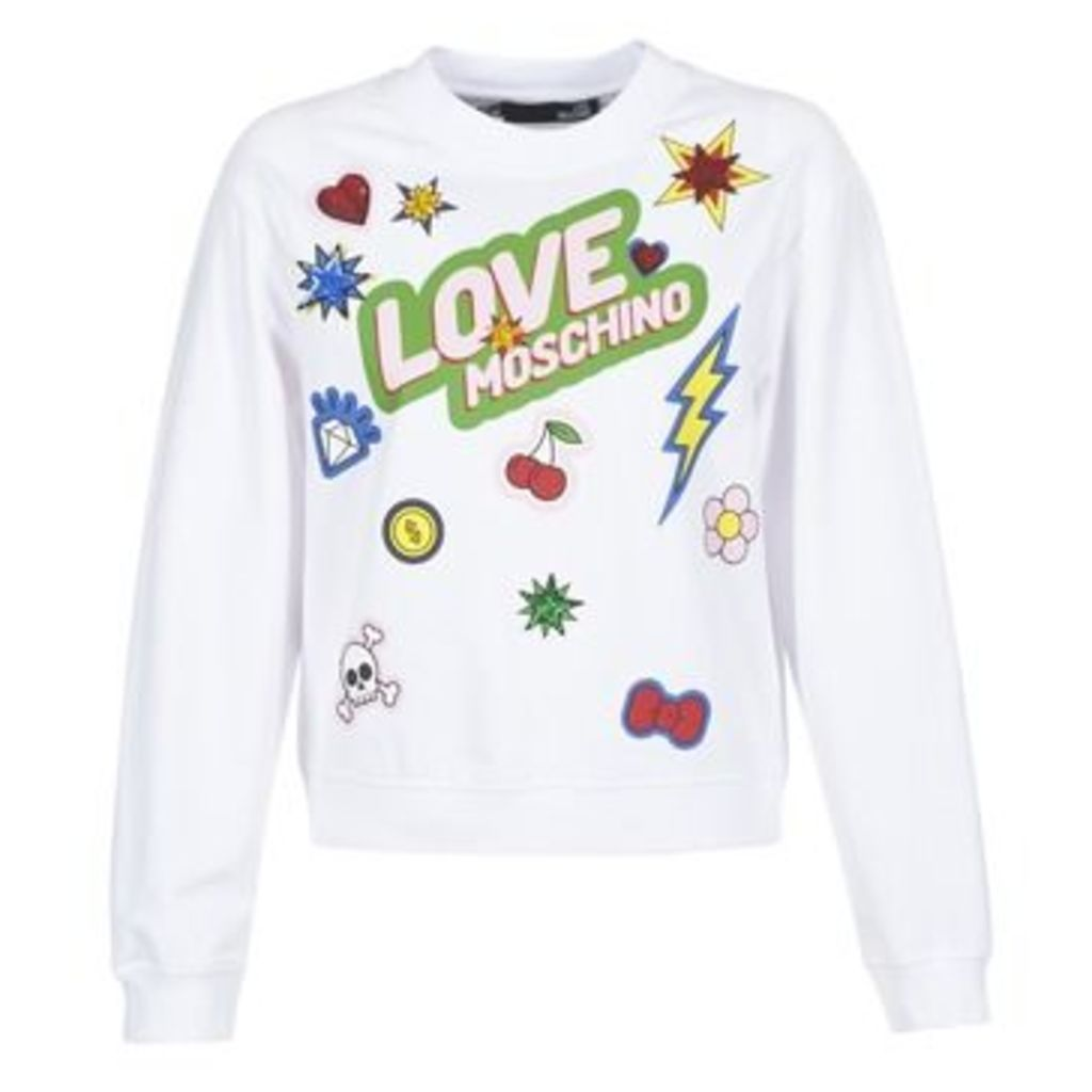 Love Moschino  W630610  women's Sweatshirt in White