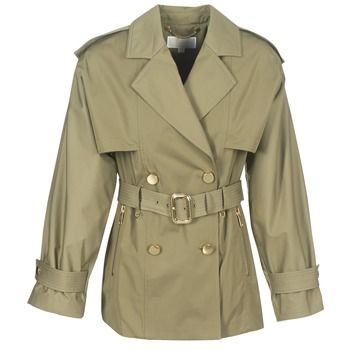 MICHAEL Michael Kors  SHRT WIDE TRENCH  women's Trench Coat in Green