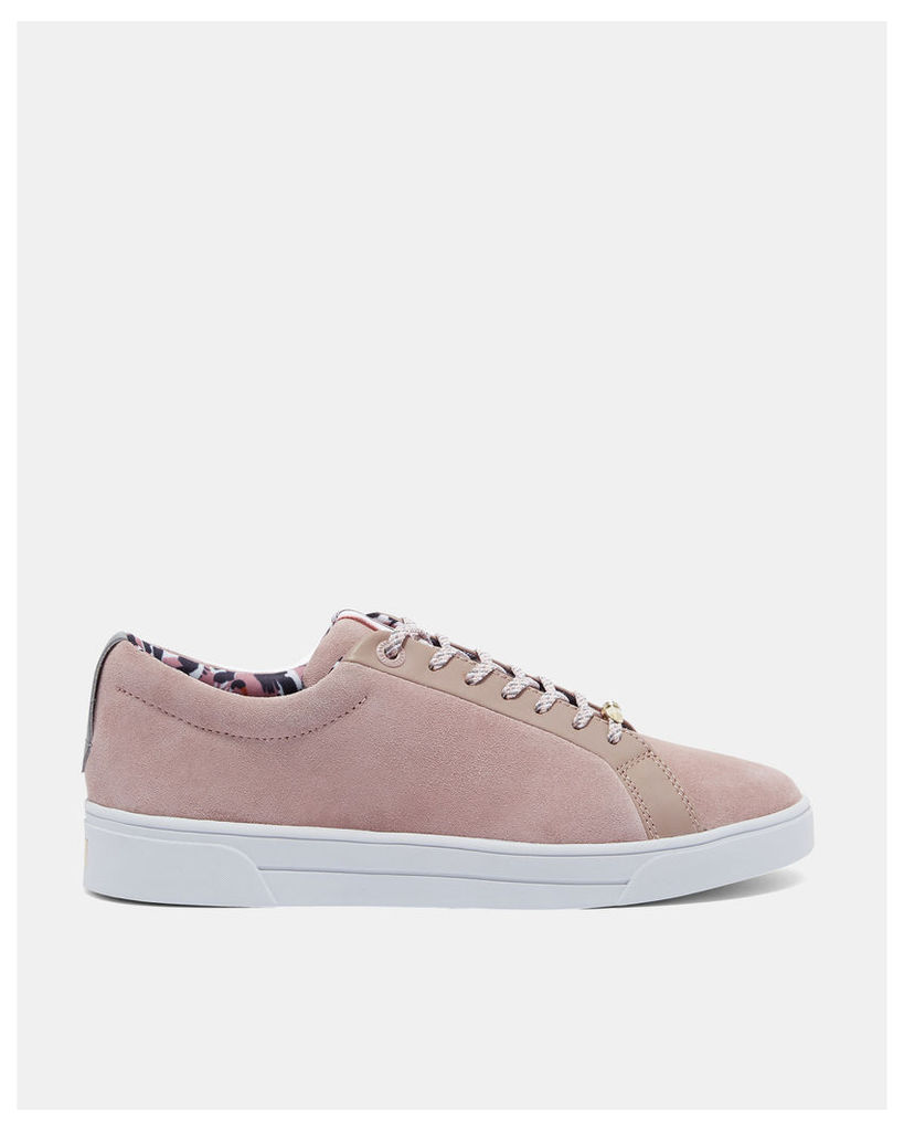 Ted Baker Suede tennis trainers Mink