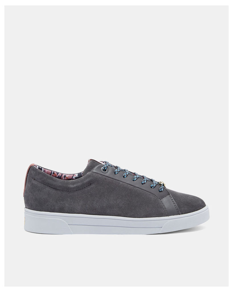 Ted Baker Suede tennis trainers Charcoal