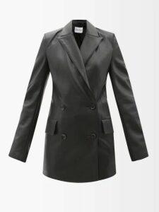 Gül Hürgel - Knot Front Cotton Dress - Womens - Blue Print
