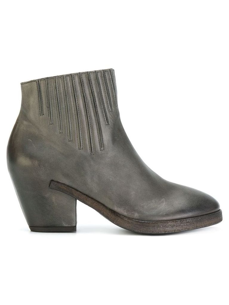 Del Carlo curved ankle boots - Grey