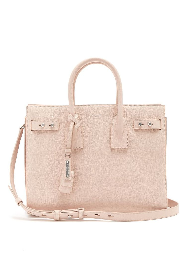 Saint Laurent - Sac De Jour Small Grained Leather Tote - Womens - Light Pink