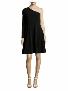 One-Shoulder Fit-&-Flare Dress