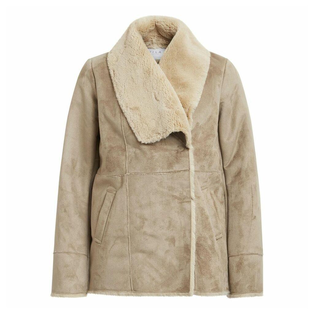 Short Faux Sheepskin Coat