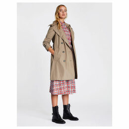 Burberry Women's Beige Amberford Cotton Trench Coat