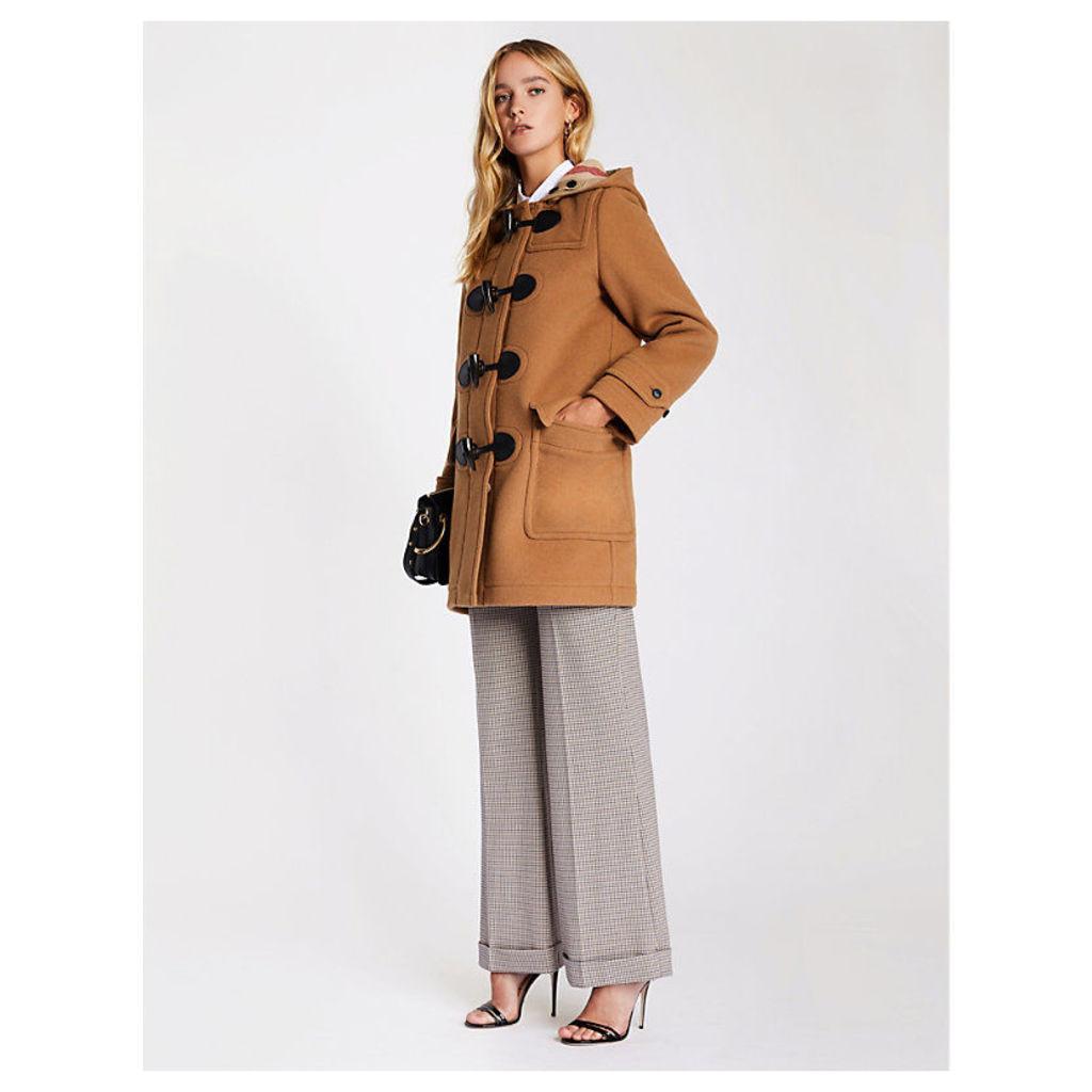 Burberry Women's Brown Mersey Wool-Blend Duffle Coat